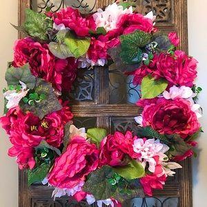 "🇨🇦Custom Handmade 18"" Peony Grapevine Wreath"